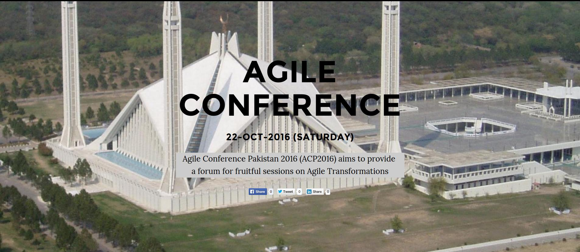Agile Conference Pakistan - ACP2016