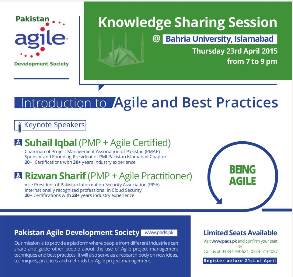 2015 - 1st Knowledge Sharing Session 2015