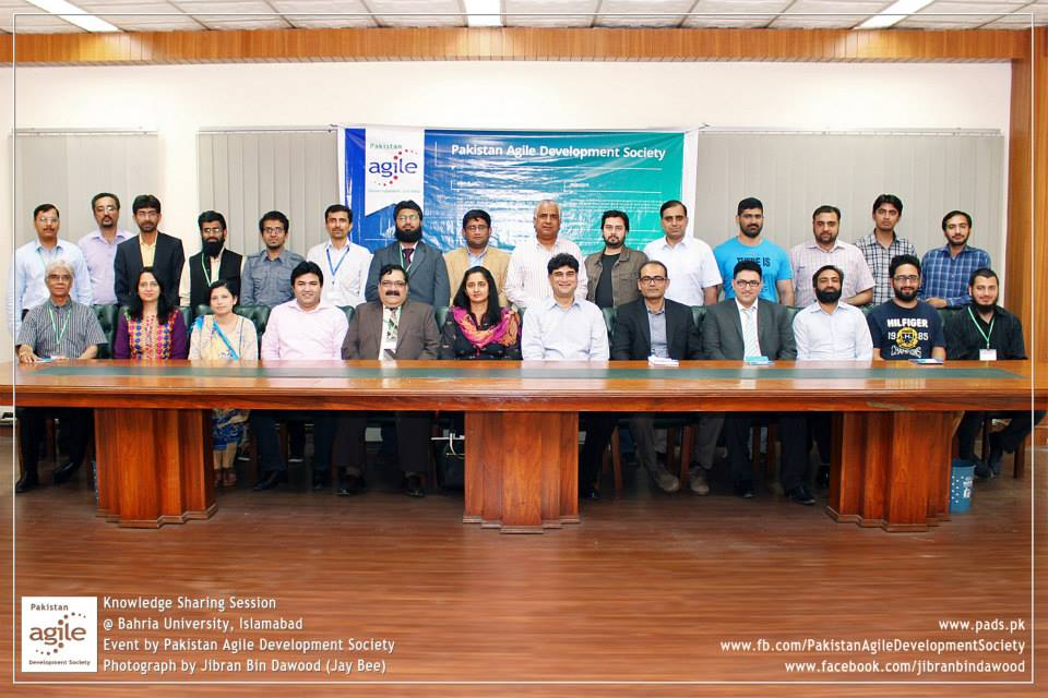 Agile knowledge Sharing Session at Bahria University Islamabad (23 April 2015)